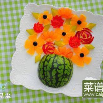 花盆水果拼盘