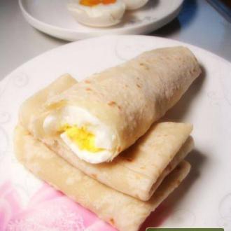 营养早餐——春饼卷鸡