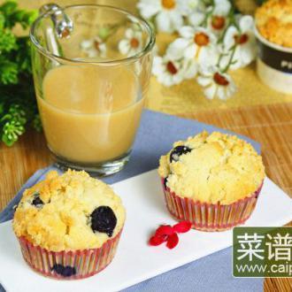 金顶酥粒蓝莓马芬