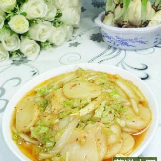 大白菜炒年糕