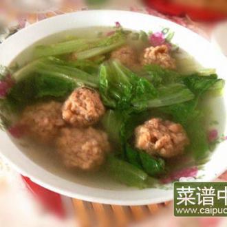 生菜藕丸汤