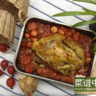 香草番茄烤鸡