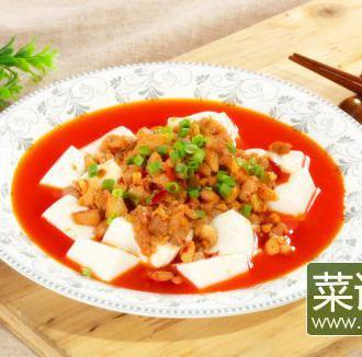 鸡米捞豆腐