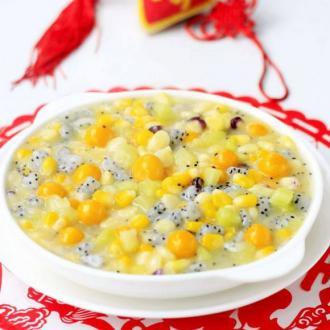 水果玉米圆子