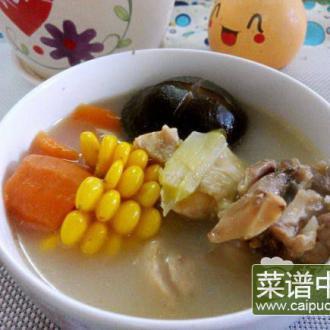 甜玉米香菇鸡汤