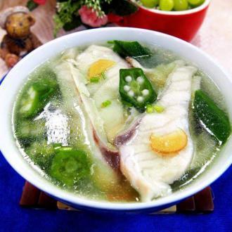 秋葵鱼片汤