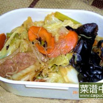 大白菜炒魔芋