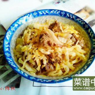 洋葱包菜炒酱排骨