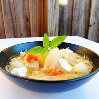 豆腐魔芋丝大酱汤