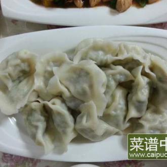 木耳香菇小白菜饺子