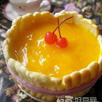 黄桃冻芝士蛋糕