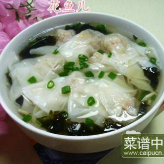 紫菜虾皮猪肉馄饨