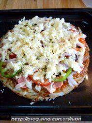 """金枪鱼披萨——土""""豆""""丝饼底的做法步骤17"""