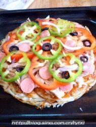 """金枪鱼披萨——土""""豆""""丝饼底的做法步骤16"""