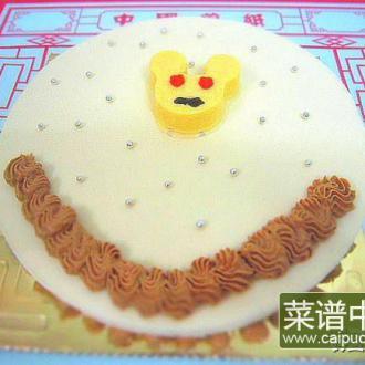 焦糖苹果蜂蜜慕斯蛋糕