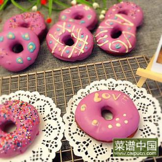 香芋巧克力甜甜圈
