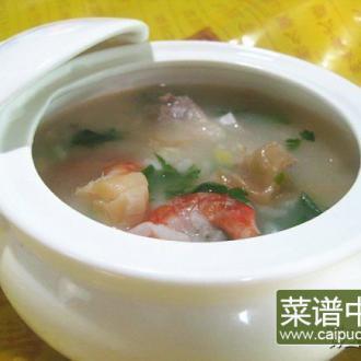 干贝排骨虾粥