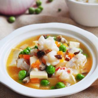 鲜虾什锦豆腐