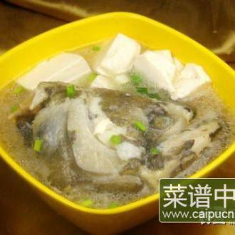 鸦片鱼头豆腐汤