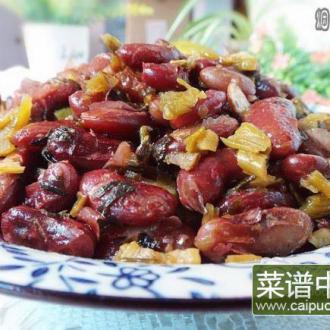 酸菜炒红豆