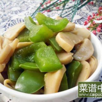 青灯笼椒炒杏鲍菇