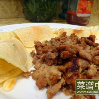 海鲜酱鸡丝卷饼