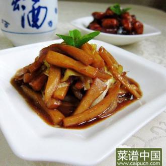 韭黄炒杏鲍菇