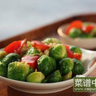 蒜蓉彩椒甘蓝小包菜