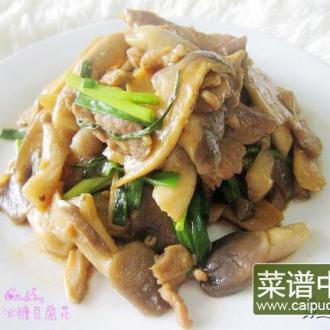 肉片炒秀珍菇