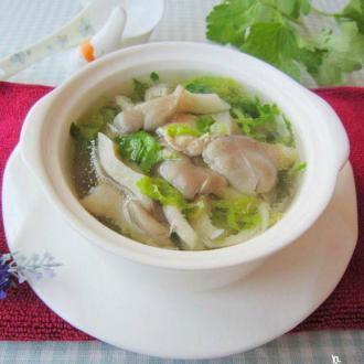 秀珍菇肉片汤