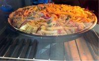 海鲜土豆意面披萨#百味来意面#的做法步骤22