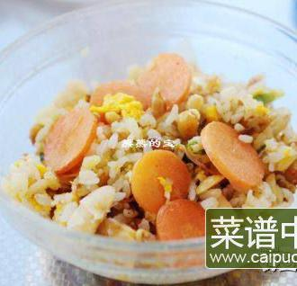 黄豆胡萝卜鸡蛋炒饭