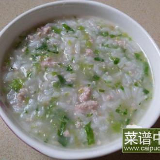 清香生菜瘦肉粥