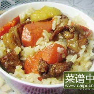 酱肉胡萝卜土豆饭