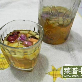 玫瑰红枣苹果茶