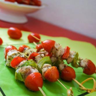 法式蔬菜鸡肉串