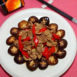 鲜冬菇滑肉片