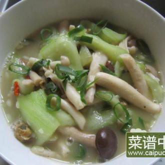 秀珍菇淡菜炒丝瓜