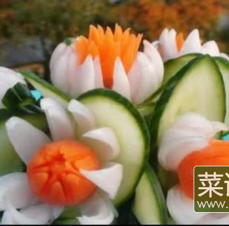 超美的洋葱萝卜雕花