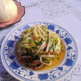 花椒油拌水萝卜黄瓜