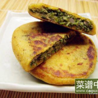 杂粮茴香贴饼子