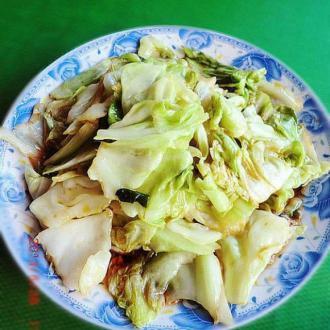 花椒油炝莲白