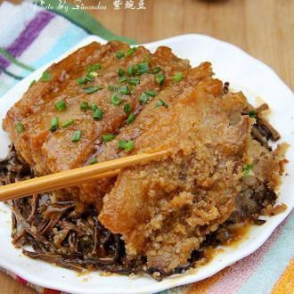 干豆角粉蒸肉