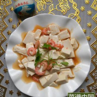 #美味的朋友#虾仁豆腐