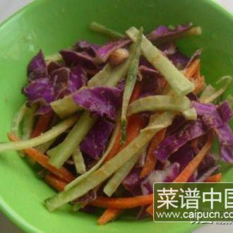 麻酱拌紫甘蓝黄瓜条