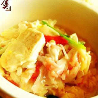 蟹肉豆腐煲