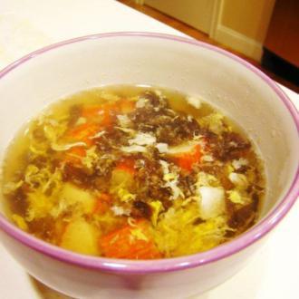 紫菜蟹棒酸辣汤