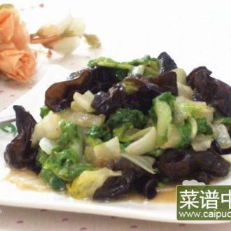 蚝油木耳菊花菜
