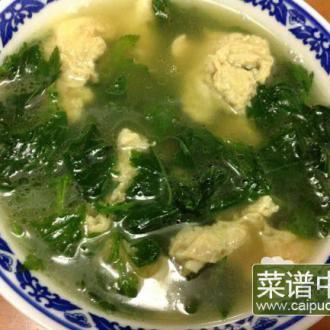 菊花菜蛋汤