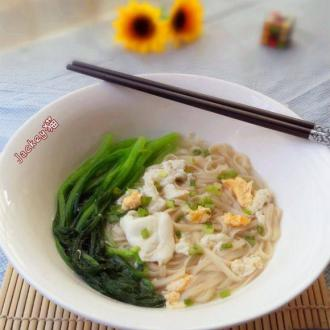 咸蛋芥菜汤面